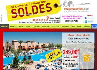 Soldes sejours Auchan Voyages