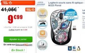 Souris sans fil Logitech M345 Floral a moins de 10 euros