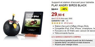 Station accueil Angry Birds en soldes