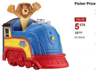 le Train du Cirque Madagascar 3 Fisher Price à 5,76 euros