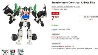 Transformers Construct A-Bots Elite 7 euros