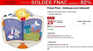 Veilleuse-Livre interactif Fisher Price soldes
