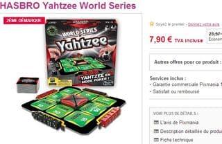 Yahtzee World Series a moins de 8 euros