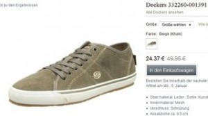 baskets Dockers à 24,37 euros