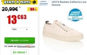 basket levis moins de 14 euros