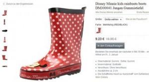 bottes caoutchouc fille Minnie pas cheres
