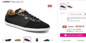 chaussures Umbro Tibbs Low Sarenza