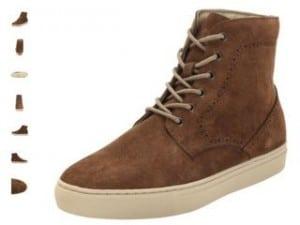 chaussures montantes Schott en cuir a 25 euros