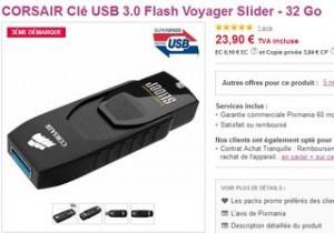 cle USB 3.0 32Go Corsair au plus bas prix