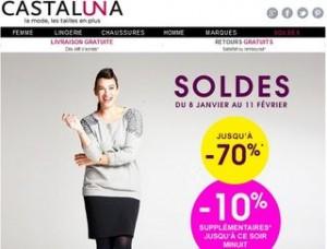 Castaluna : 10% suppl. sur les Soldes jusqu'à minuit (jusqu'à -80%)
