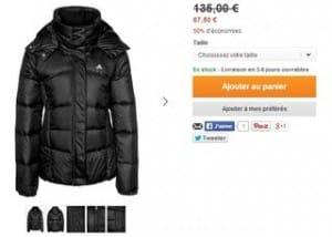 doudoune Adidas Performance a 57 euros
