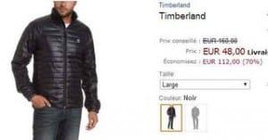 doudoune Timberland à 48 euros