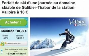 forfait ski valloire moitie prix groupon