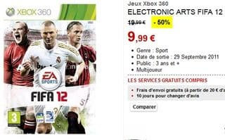 jeu FIFA 12 pour Xbox 360 en soldes