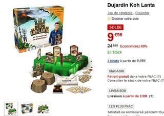 jeu Koh Lanta de TF1 Games a moins de 10 euros
