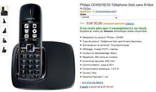 téléphone DECT solo PHILIPS