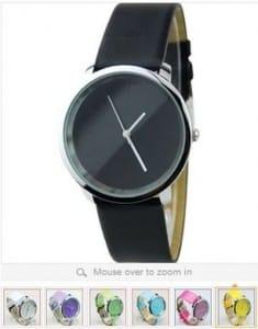 montres bracelet cuir a 3 euros.