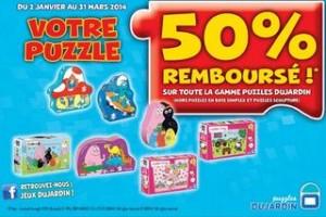 remboursement sur le puzzle Dujardin