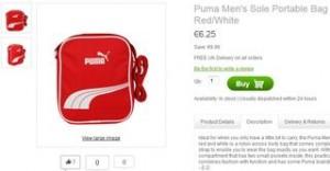 sac bandoulière Puma à moins de 7 euros
