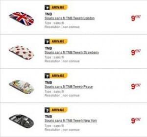 souris sans fil T nB Tweety a moins de 10 euros