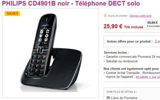 25 euros le t l phone solo philips cd4901b au lieu du double. Black Bedroom Furniture Sets. Home Design Ideas