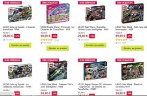 La troisième démarque jouets chez Pixmania mis en ligne aujourd'hui propose une multitude de très bonnes affaires avec des boites de Lego au plus bas prix du moment (des Lego Star War jusqu 'a -57% ), des jouets et jeux Hasbro, des jouets Fisher Price et autres… Profitez en vite car les prix sont vraiment très bas et en plus la livraison est gratuite ! Voir la troisième démarque Pixmania Dans les bonnes affaires il y aussi des poupées Monster High, Poupée Barbie…