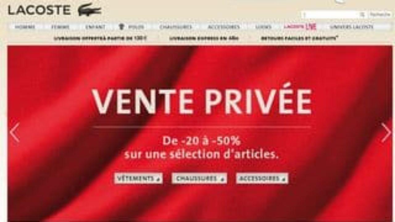 db5931c81b Vente privée Lacoste ! vêtements, chaussures et accessoires jusqu'à ...