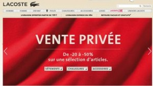 Vente privée Lacoste
