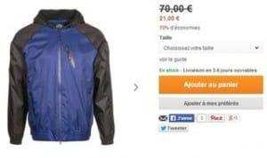 veste Dickies homme à 21 euros