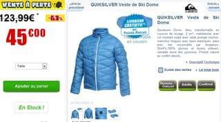 veste de ski Quicksilver Dome soldes 45 euros