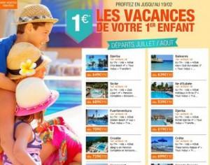 1 euro le sejour de votre enfant en Juillet Aout 2014
