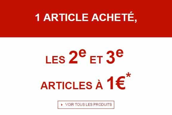 1 euros le second et troisieme article