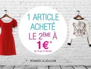 1 vêtement acheté = le deuxième à 1 euro La Halle