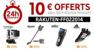 10 euros de remises pour 100 euros PRICEMINISTER