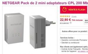 2 mini adaptateurs CPL Netgear 22 euros