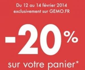 20 pourcent supplementaires sur les soldes GEMO