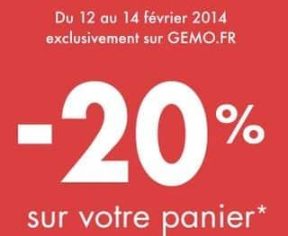 8493343aa3c Prolongation soldes Gémo + code promo 20% supplémentaires pendant ...
