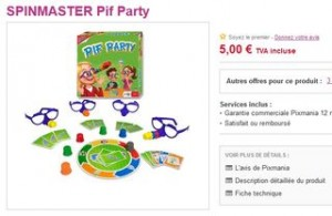 5 euros le Jeu Pif party port inclus