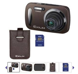 Moins de 40 euros les appareils photo Casio 16,1 Mpix (or / noir / marron)