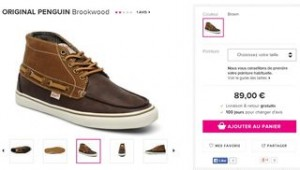Baskets Original Penguin Brookwood moins cheres