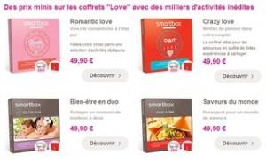 Code promo coffret cadeau SmartBox Saint Valentin