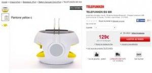 Enceinte et chargeur Solaire Bluetooth Telefunken