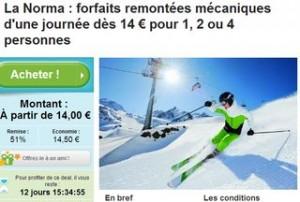 Forfait de ski La Norma à 14 euros