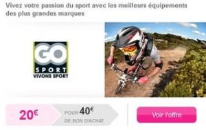 Go Sport bon achat moitie prix