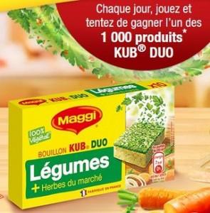 Gratuit : KUB DUO Légumes et Herbes Maggi