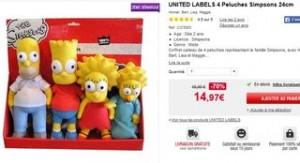 Moins de 15 euros les 4 peluches Simpsons 24cm