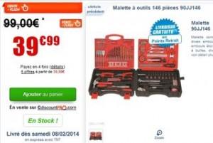 Moins de 40 euros Malette a outils 146 pieces