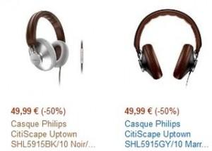 Moins de 50 euros le casque Philips CitiScape Uptown
