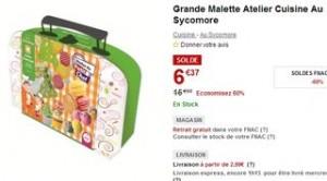 Moins de 7 euros la Grande malette atelier cuisine pour enfants