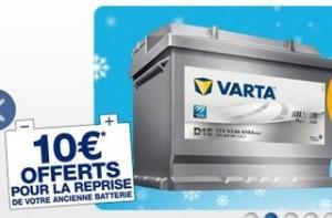 Norauto 1 batterie ramenée = 10 euros en bon d'achat